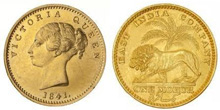 Gold Coins of British East India