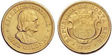 Gold Coins of Costa Rica