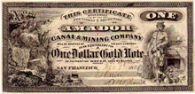 72. Amador Canal and Mining Company Note